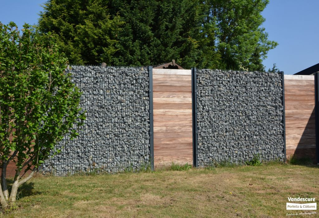 awesome cloture jardin gabion images. Black Bedroom Furniture Sets. Home Design Ideas